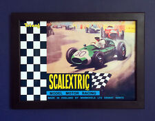 Scalextric 1967 Vintage Motor Slot Car Racing Framed A4 Size Poster