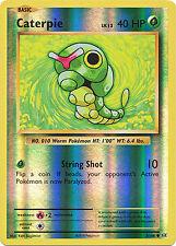 Caterpie Common Reverse Holo Pokemon Card XY12 Evolutions 3/108