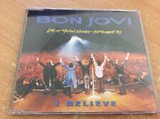 BON JOVI I BELIEVE LIVE AT MILTON KEYNES 18th SEPTEMBER '93 CD SINGLE BOX NO MB2