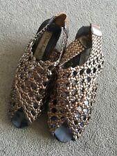 Damen Sandalen Schuhe Gr. 37 Bronze