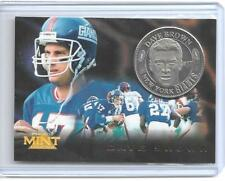 1996 PINNACLE MINT DAVE BROWN SILVER / NICKEL COIN & CARD #19 ~ NEW YORK GIANTS