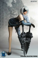 SUPER DUCK SET017 Female Automata 2B Clothes w/ Head Set 1/6 Fit Phicen body