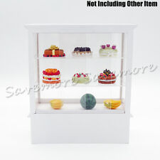 1:12 Miniature White Wood Display Bakery Shop Cabinet Counter Shelving Case Gift