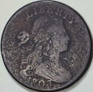 1803 Draped Bust Large Cent - ** G+ ** - S-244 R4 - From the Gebhardt Collection