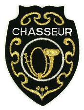Ecusson brodé militaire ♦ (patch/crest embroidered) ♦ REGIMENTS CHASSEUR