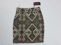 Women's Missi London Ladies Skirts Multi-colored Back Zip Polyester UK 8