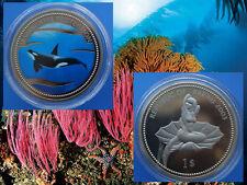 Palau 1$ Farbmünze 2003 Marine Life Protection - Orka /Killer Whale   (PL22)