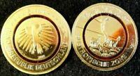 5 Euro Münze mit Polymerring-A D-F-G-J-Subtropische Zone 2018 24 Karat vergoldet