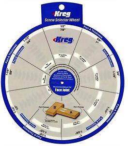 KREG SSW Pocket Hole Jig Screw Selector Wheel. Woodworking K4 K5 K4MS K5MS R3