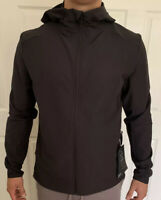 Lululemon Men Size S Warp Lite Jacket Packable Black BLK Full Zip Hooded Vented