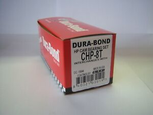 Dura-Bond CHP-8T SBC High Performance Coated Cam Bearings Chevy 283 327 350 400