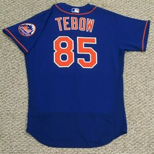 TIM TEBOW size 46 #85 2021 New York Mets GAME ISSUED jersey SPRING blue MLB