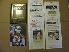 2004 BOSTON RED SOX WORLD SERIES CHAMPIONS SET SI COLLECTORS EDITION WS PROGRAM