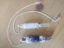 Wholesale joblot crystals amethyst rose quartz wands acupuncture meridian energy