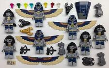 8 LEGO PHARAOH'S QUEST MINIFIGS LOT indiana jones figures flying mummys snakes