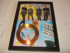DURAN DURAN  SIGNED FRAMED GOLD CD  DISC PAPER GODS 2