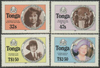 Tonga 1985 SG915B-918B Life and Times of Queen Mother perforated set MNH