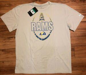 Mens Nike NFL Los Angeles Rams Dri-Fit Football Shirt Beige NWT