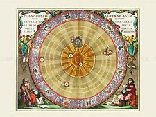Spazio carta CELLARIUS macrocosmica Planisphere Copernicana REPLICA STAMPA pam2172