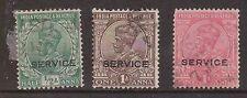 (Lu132) 1911 India 3mix of ½A & 1A Kgv O/P service
