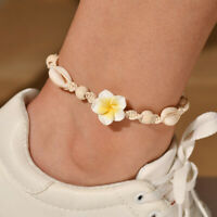 Flower Cowrie Sea Shell Beads Anklet Bracelet Chain Stylish Beach Foot Jewelry
