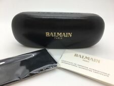 BALMAIN EYEGLASSES SUNGLASSES BLACK HARD CLAMSHELL CASE CLOTH BOOKLET NEW!!!