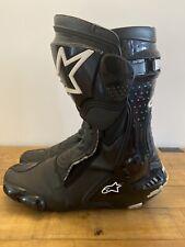 ALPINESTARS SMX 6 v2 DRYSTAR BLACK Leather Motorcycle RACE Boots SIZE UK 13 EU48