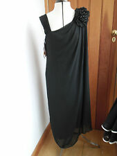 J S COLLECTIONS BLACK FLOATY BEADED CORSAGE DRESS UK 10 BNWT LBD
