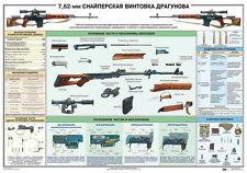 Dragunov sniper rifle SVD Russian original military poster (size 39 x 27 inches)