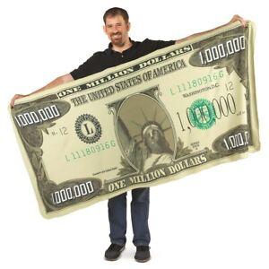 Warm & Cozy Million Dollar Bill Novelty Blanket - Great Gift Idea!