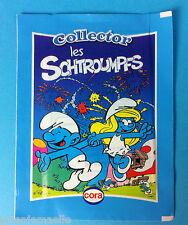 Carte collector  Schtroumpf Cora Match pochette de 4 cartes pitufo Smurf puffi