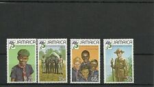 JAMAICA SG546-549-75TH ANNIVERSARY OF BOY SCOUT MOVEMENT MNH