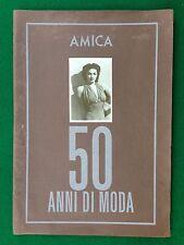 ALBUM Figurine Sticker AMICA 50 ANNI DI MODA fashion (1986) Completo 100% !!