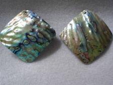 1 55mm square abalone paua shell bleu naturel pendentif fabrication de bijoux