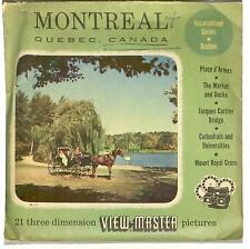 Vintage SAWYER'S View Master MONTREAL Quebec Canada 380 Viewmaster 3 Reel Set !!