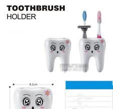 Cute Creative Teeth Shape 4 Holes Toothbrush Cup Holder Stand Bathroom Home LA