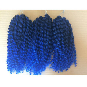 "8"" 12"" MALI BOB Curly Twist Crochet Braids Synthetic Twist Curls Hair Extension"