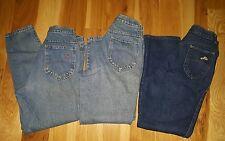 LOT OF 3 Vtg. 80's Women's DISCO HI WAIST Denim Jeans Size 12 petite Made in USA