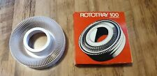 GAF Rototray 100 White Universal Carousel Projector Slide Holder Grade A