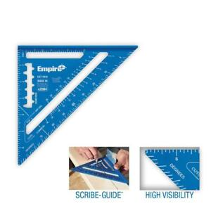 """Empire True Blue Rafter Square Hi Vis Laser Etched 7"""" Aluminum SCRIBE GUIDE NEW"""