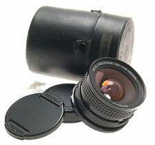 67 PENTAX 6x7 II SMC 1:4 f=45mm CAMERA WIDE LENS CASE MINT CONDITION 4/45mm CAPS