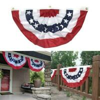 Semicircle American Flag Bunting Wall Decor Flag American 18'' x 36'' T7P5