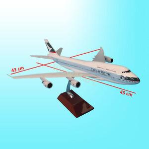 Fibreglass Resin Cathay Pacific B747 Aircraft Plane Model 46-50cm