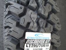 4 New LT225/75R16 Cooper Discoverer S/T Tires 225 75 16 2257516  75R 10 Ply