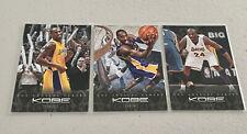 Kobe Bryant 2011-12 Panini Anthology Los Angeles Lakers 3 card Mamba lot