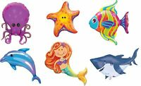 Sea Creatures Ocean Birthday Party Decoration Assorted Supershape Foil Balloon