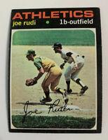 1971 Joe Rudi # 407 Oakland Athletics A's Topps Baseball Card