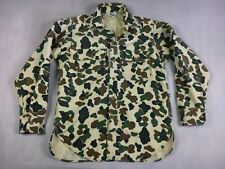 Woolrich Camouflage Long Sleeve Button-Down Chamois Shirt - Men's Small - Camo