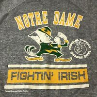 Vintage 90s Notre Dame Fighting Irish Sweatshirt NCAA Fedex Orange Bowl Men XL