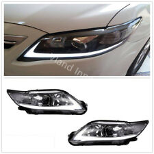 2010-2011 TOYOTA CAMRY HEADLIGHTS BLACK HOUSING LED DRL HEAD LAMP CUSTOM